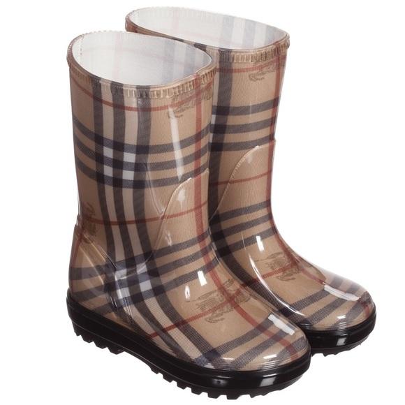 Burberry Check Print Rain Boots Kids Us